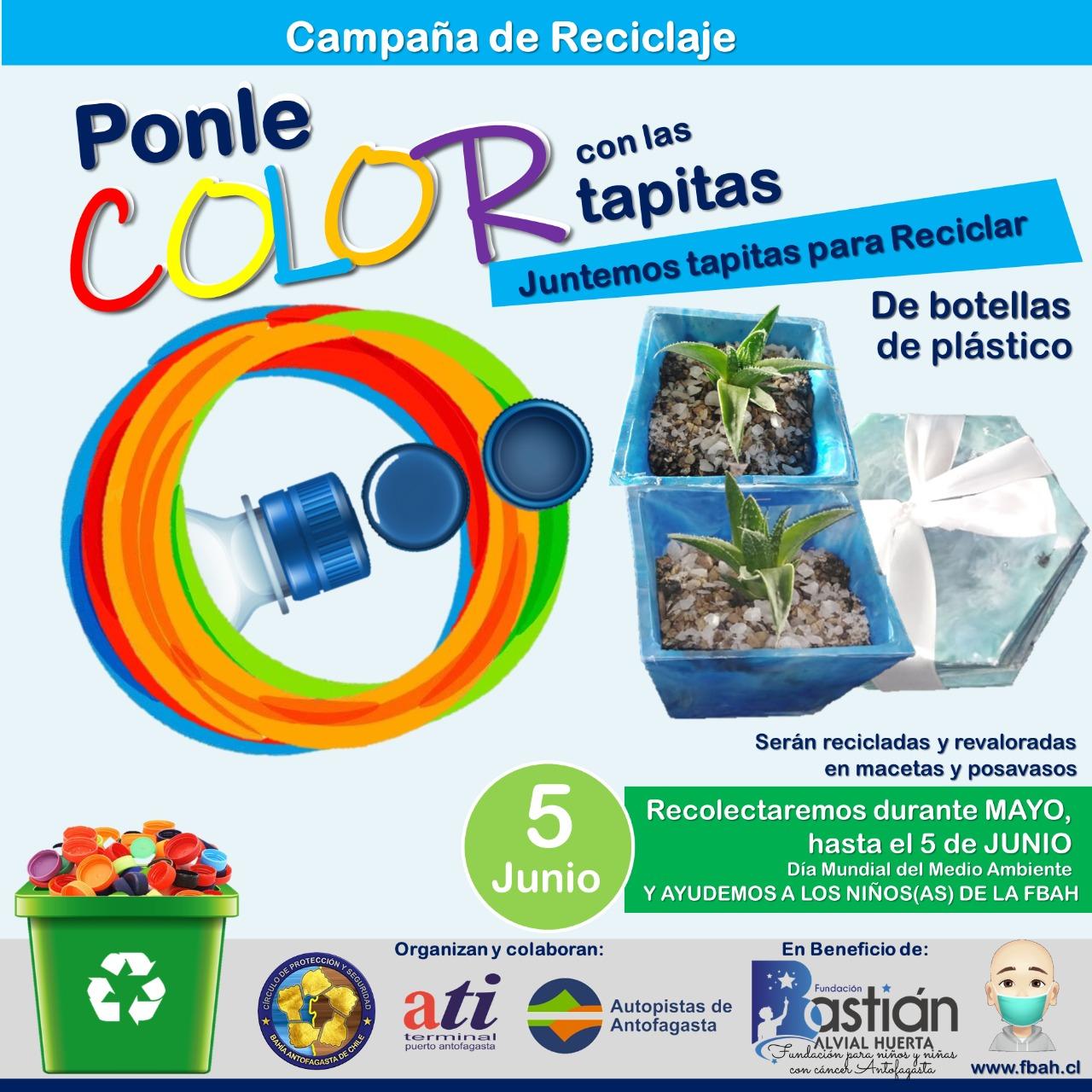 Autopistas de Antofagasta participa de campaña de reciclaje en apoyo de fundación oncológica infantil
